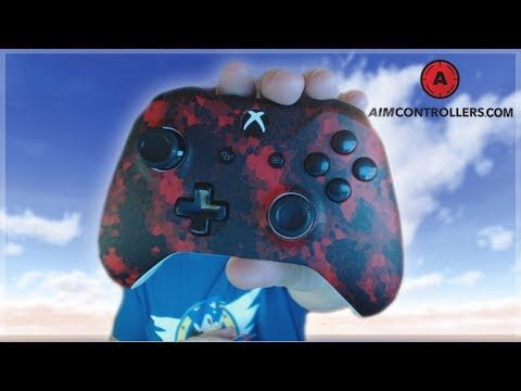 CUSTOM XBOX ONE CONTROLLER! – DIGI-CAMO RED DESIGN FROM AimControllers.com