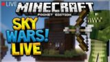 🔴LIVE! MCPE SKYWARS!! Minecraft Pocket Edition – Server Skywars Battle W/ Fans
