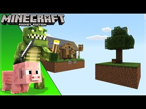 LIVE! Minecraft Pocket Edition – ISLAND IN THE SKY Survival! (Windows 10)
