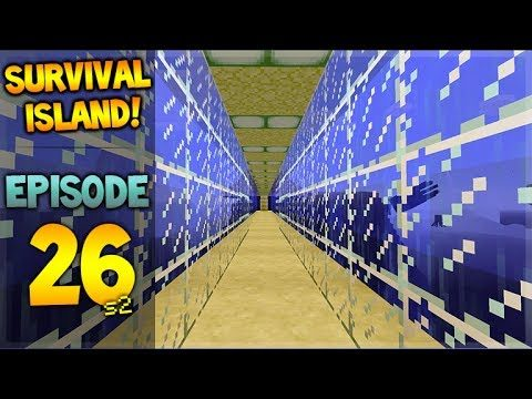 LIVE! Minecraft Xbox – Survival Island – Under Water Walkway Episode 26