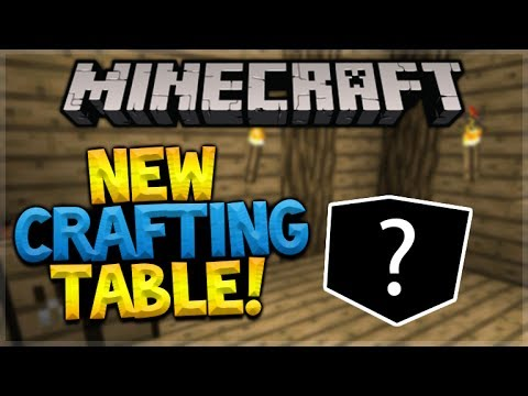 NEW MINECRAFT CRAFTING TABLE! Minecraft 1.13 NEW Crafting Table Texture Changes (Minecraft Update)