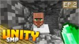 THE LUCKY VILLAGER!! EP.2 – Minecraft Pocket Edition Unity Realm SMP