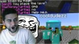 THE SUPER EVIL BLOCK CHANGE TROLL!! Funny Minecraft Players Pranks (Minecraft Trolling)