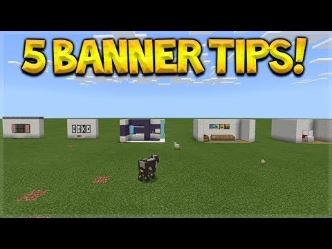 5 USEFUL THINGS YOU CAN DO WITH BANNERS IN MINECRAFT POCKET EDITION