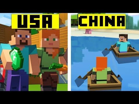How Minecraft Looks In Different Countries!?