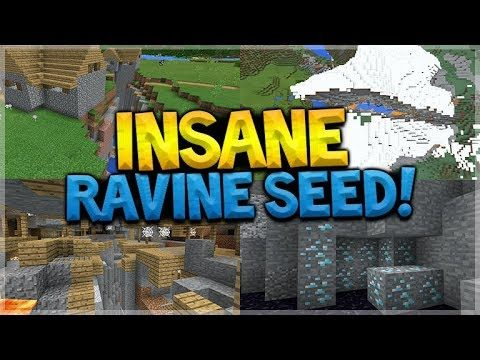 INSANE RAVINE SEED!! Minecraft Pocket Edition – 1.2 Mineshaft Ravine, Diamonds, & MORE!!!!