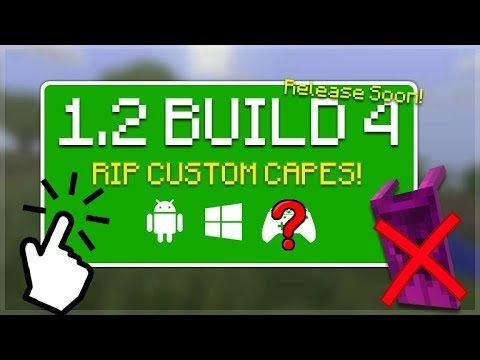 MCPE 1.2 BETA BUILD 4!!! Minecraft Pocket Edition – 1.2 BETA Build 4 RIP Custom Skin Capes REMOVED!