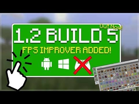 MCPE 1.2 BETA BUILD 5! Minecraft Pocket Edition   1.2 BETA Build 5 NEW FPS Improver!