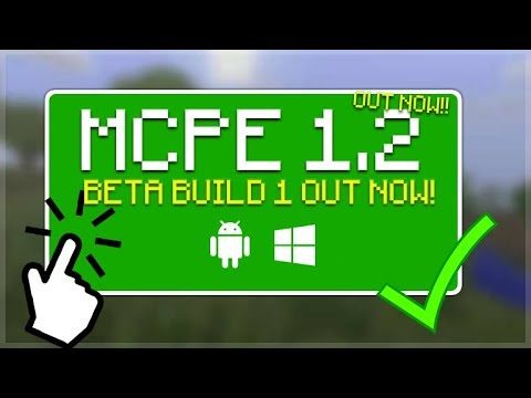 MCPE 1.2 OUT NOW!! Minecraft Pocket Edition – 1.2 BETA BUILD 1 OUT NOW All Changes!