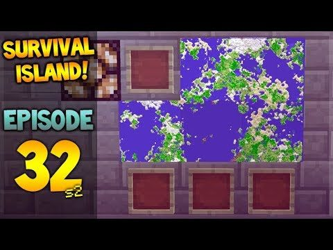 Minecraft Xbox – Survival Island – The Great Map Wall! Episode 32
