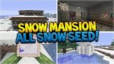 Snow Mansion, 5 Igloos ALL Basements, 97% Snow Biome Amazing SEED!