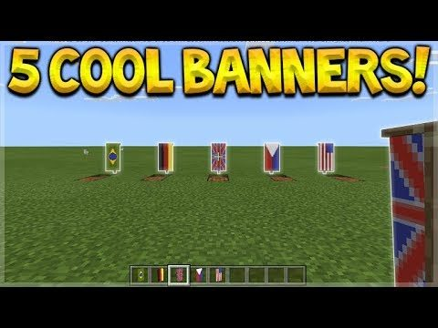 5 COOL BANNER DESIGNS! Minecraft Pocket Edition – 1.2 BETA 5 Country Flag Banner Designs