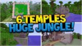 6 Jungle Temples, 2 Villages, HUGE Jungle Biome (Minecraft Xbox 360, PS3, Xbox One, Wii U, Vita)
