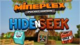 MCPE HIDE AND SEEK!! Minecraft Pocket Edition   Mineplex PE Block Hunt Mini Game Pocket Edition