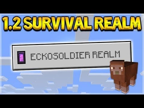 Minecraft 1.2 REALMS – NEW 1.2 Survival Realm House Building (Better Together Update)