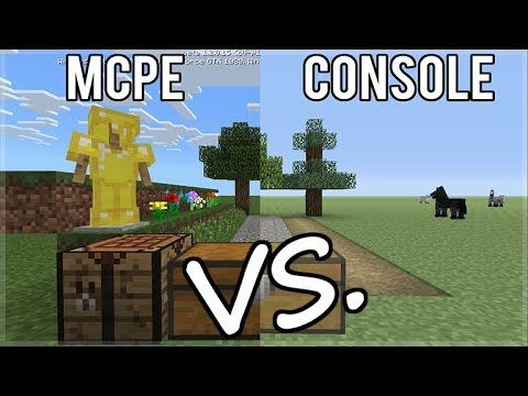MINECRAFT XBOX EDITION Vs MINECRAFT POCKET EDITION FULL COMPARISON (NEW VERSION)