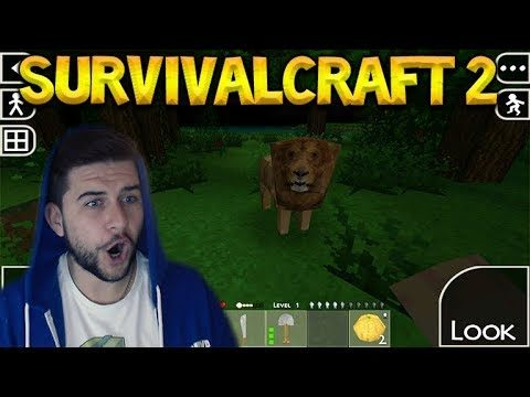 Survivalcraft 2 – I'M LEARNING THE BASICS! WE FOUND A LION! Let's Play