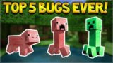 TOP 5 COOLEST BUGS, GLITCHES & EXPLOITS EVER IN MINECRAFT!!