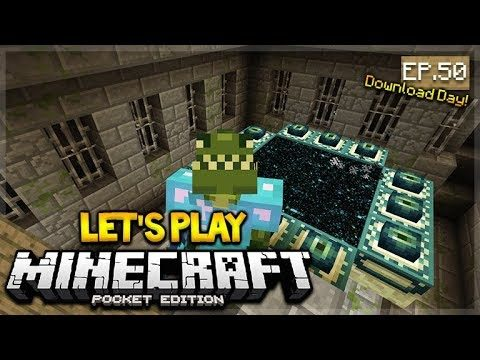 LIVE NOW MCPE 1.2 Let's Play Minecraft Pocket Edition: Ender-Dragon Fight Prep 50