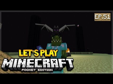 🔴 LIVE NOW MCPE 1.2 Let's Play Minecraft Pocket Edition: Dragon Battle  51