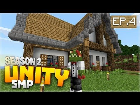 LOOK I BUILT MY HOUSE! EP 4   Minecraft Bedrock Unity Realms SMP Season 2