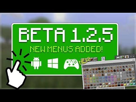 Minecraft 1.2.5 BETA – OUT NOW! NEW Creative Menus + Marketplace Rating & More!