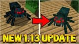 NEW TEXTURES UPDATE CHANGING MINECRAFT 1.13 MOBS!