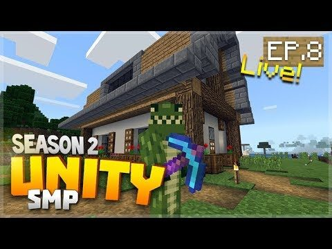 🔴LIVE LET'S DESIGN THE INTERIOR! EP.8 – Minecraft Bedrock Unity Realms SMP Season 2