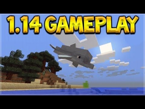 MINECRAFT 1.14 GAMEPLAY – THE AQUATIC UPDATE! DOLPHINS, SHIPWRECKS, CORALS & MORE!