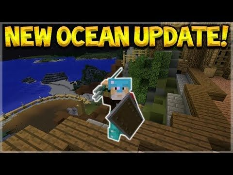 Minecraft 1.14/MCPE 1.3 – NEW OCEAN UPDATE New Mobs, Biomes, Weapons & More Explained!