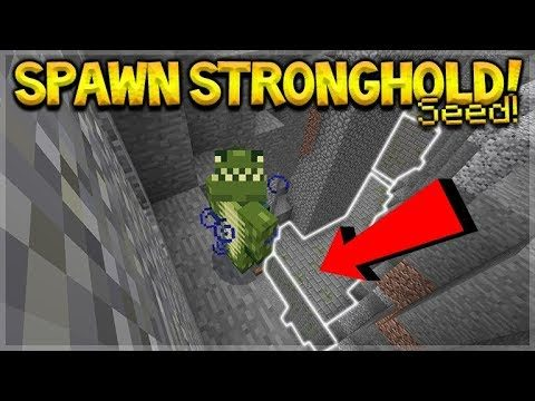 SPAWN IN A STRONGHOLD SEED!! Minecraft Bedrock Ravine, Village & Stronghold At Spawn Seed!