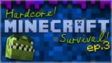 HARDCORE SURVIVAL! – Minecraft PC 1.12.2 one LIFE Only! Episode 3 (Minecraft Hardcore)