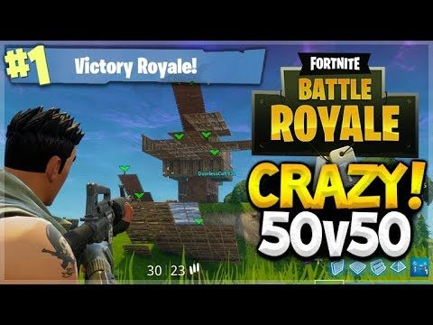INSANE 50v50 GAMEMODE!! TEAM WORK MAKES DREAM WORK! BACK TO BACK WINS! (FORNITE BATTLE ROYALE!)