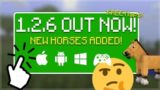 MCPE 1.2.6 OUT NOW! – NEW Horses CHANGED!! & FREE Maps! (Better Together Update)