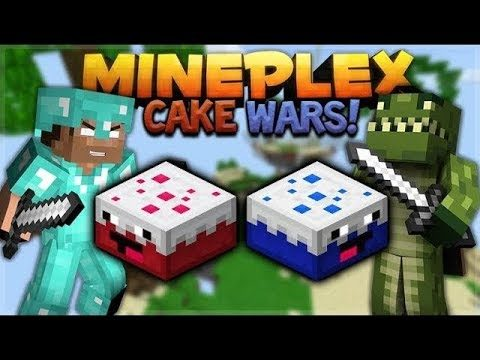 MINECRAFT CAKE WARS! – MINEPLEX CAKE WARS W/ Subscribers! (PVP Mini-Game)