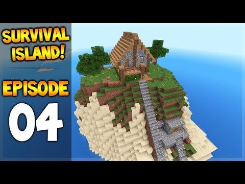 Minecraft Pocket Edition – Survival Island – The House On The Hill! Episode 4