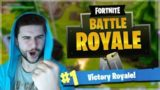 MY FIRST VICTORY ROYALE!! SLOW AND STEADY WINS THE RACE! (Fortnite Battle Royale!)