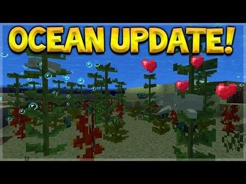 SNEAK PREVIEW! MINECRAFT 1.3 UPDATE AQUATIC DOLPHINS, KELP & MORE! (Concept Creation)