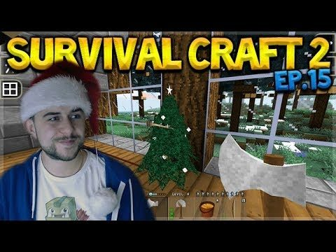 SurvivalCraft 2 – LEARNING THE BASICS ABOUT ELECTRICS! WE BUILT A CHRISTMAS TREE! Let's Play (15)