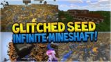 GLITCHED Infinite Mineshaft, Woodland Mansion & Lots Of Ravines! AT SPAWN SEED Minecraft