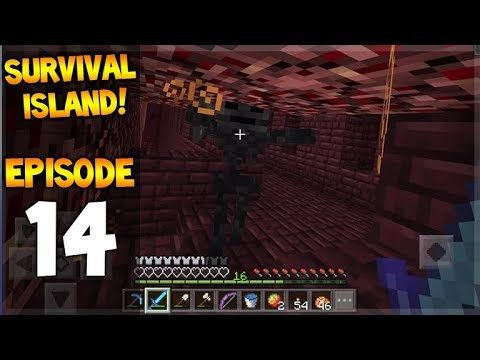 Minecraft Pocket Edition – Survival Island – Wither-Skull Hunting! Let's Play Episode 14