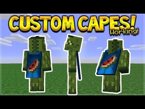 NEW HOW TO USE CUSTOM CAPES IN MCPE – Minecraft Pocket Edition Custom Capes on YOUR Skin Tutorial