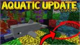 SNEAK PREVIEW! MINECRAFT 1.3 UPDATE AQUATIC TURTLES! CORALS, TRIDENT & MORE! (Concept Creation)