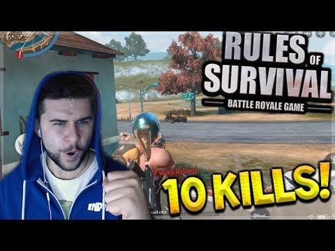 THE PERFECT START! EPIC 10 KILLS GAME!! Rules Of Survival (PUBG Mobile)