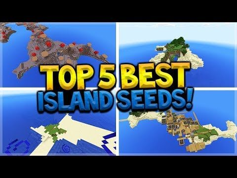 The Top 5 Best Minecraft Survival Island Seed! Village Island, Mushroom island & More SPAWN SEEDS!