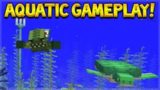 NEW AQUATIC UPDATE GAMEPLAY! – Minecraft 1.13 Ocean Update Snapshot 18W07A (gameplay)
