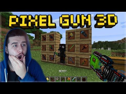 PIXEL GUN 3D WEAPONS IN MINECRAFT! – SUPER COOL PIXEL GUN 3D MINECRAFT MOD!