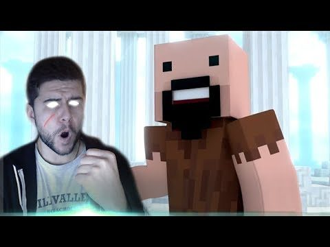 REACTING TO AN AWESOME MINECRAFT ANIMATION!! Annoying Villager Ft. Notch Minecraft Animation!
