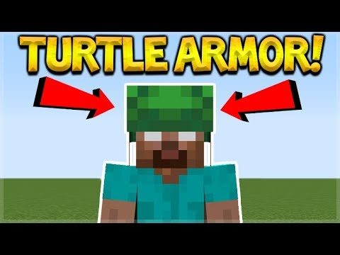 TURTLE SHELL ARMOR & TURTLE POTIONS!! Minecraft Update Aquatic!