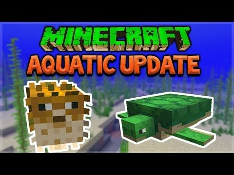 Update Aquatic  – Minecraft 1.13 NEW Ocean Update – Hunting For Mrs. Puff